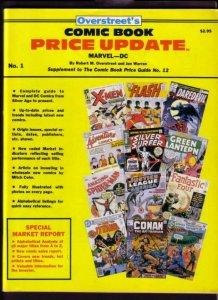 OVERSTREET COMIC BOOK PRICE UPDATE #1 1982-SILVER  BRNZ VF