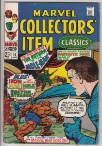 Marvel Collectors' Item #16 (Apr-68) FN Mid-Grade Fantastic Four, Mr. Fantast...