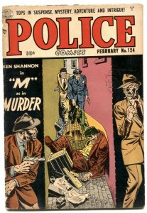 Police Comics #124 1953- M As In Murder- Golden Age G