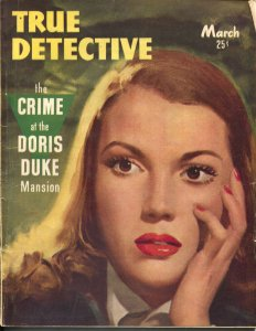 True Detective 3/1947-TD-Richard Cardiff spicy portrait cover-crime pulp-VG+