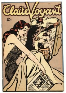 Claire Voyant #1 1946-Good Girl Art Lingerie cover-trimmed