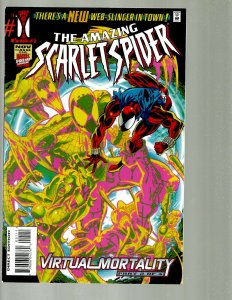 10 Comics Scarlet Spider 1 1 Web Of 124 Sensationanal 3 Hero 1 Four 382 +MOR TJ4