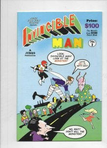 INVINCIBLE MAN #1, VF/NM, Bob Burden of Flaming Carrot fame, 1998, HTF