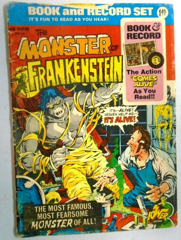 Monster of Frankenstein Book and Record Set (No Records) #PR14-N, 3.0 - 1974