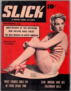 Slick #1 9/1941-showgirls-1st issue-Betty Hutton-Earl Moran-Nazi's-VF-