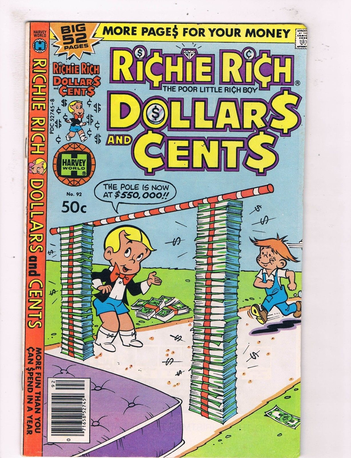 Richie Rich Dollars And Cents #92 FN Harvey Giant Size Comic