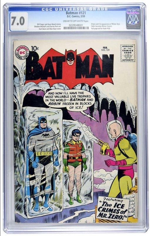 Batman #121 CGC Graded 7.0