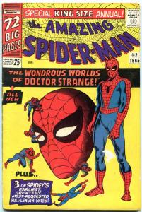 AMAZING SPIDER-MAN ANNUAL #2-1965-DOCTOR STRANGE- VG