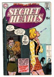 SECRET HEARTS #144 COMIC BOOK-1970-DC ROMANCE-VG-SECOND HAND LOVE VG