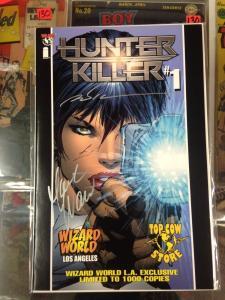 Hunter Killer #1 NM Wizard World LA limited 1000 copies SIgned Silvestri, Waid