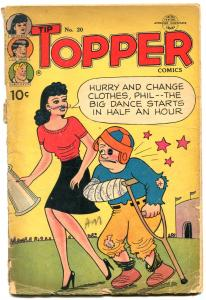 TIP TOPPER #20-1952-FOOTBALL COVER-FRITZI RITZERNIE BUSHMILLER-pr/fr
