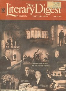 Literary Digest 7/14/1934-Behind The Scenes At The White House-historic pix-i...