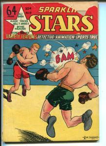 Sparkling Stars #9 1944-Holyoke-Boxing cover-Secret Service-VG MINUS