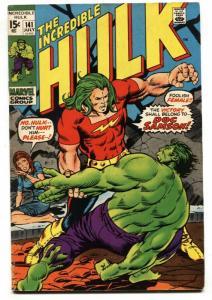 INCREDIBLE HULK #141 1st appearance DOC SAMSON-Marvel FN- 1971