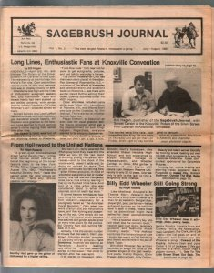 -Sagebrush Journal #2 7/1986-Knoxville Memorabilia Con--FN
