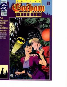 Lot Of 2 Gotham Nights Batman DC Comic Books #1 2   J69