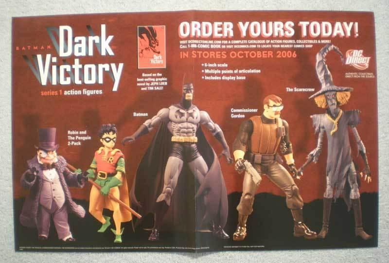 DARK VICTORY Promo Poster, BATMAN, 17x11, 2006, Unused, more Promos in store
