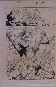 JAVIER SALTARES CHRIS IVY original art, RUNE #7 pgs 15-16, Double Splash, Battle