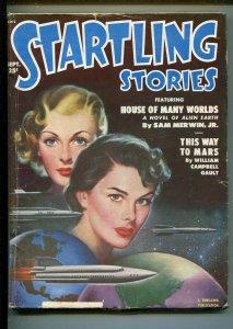 STARTLING STORIES  9/1951-THRILLING-BERGEY-GIRL ART COVER-JOHN D MAC DONALD-vg