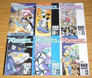 Runners #1-5 VF/NM complete series + remastered #1 - sean wang serve man set lot