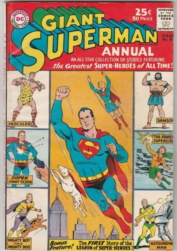 Superman, Giant Annual #6 strict FN/VF 7.0 High-Grade 1st Appear of other Heroes