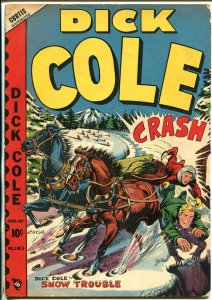 Dick Cole  #3 1949-Star-L.B. Cole wagon crash cover-outstanding art-VG