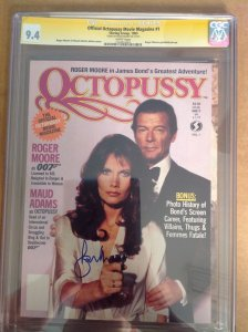 CGC 9.4 SS Official Octopussy Movie Magazine signed Roger Moore 007 James Bond