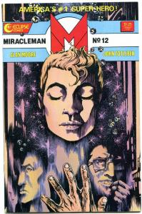 MIRACLEMAN #12 1987 ECLIPSE-COPPER AGE-NICE COPY-HIGH GRADE-NM