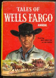 Tales of Wells Fargo Annual 1965-hard back comics-TV-U.K.-Dale Robertson-G/VG