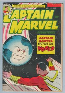 Captain Marvel Adventures 148 Sep 1953 VG- (3.5)