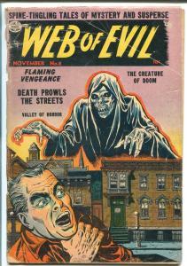 WEB OF EVIL #8 1953-QUALITY-PRE-CODE HORROR-JACK COLE-good+