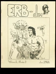 ERB-DOM #3-1961-TARZAN/EDGAR RICE BURROUGHS FANZINE- FN