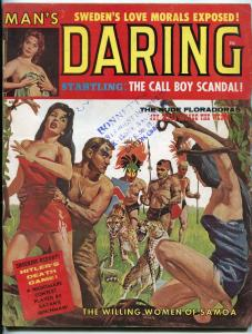 Man's Daring Magazine September 1961-HITLERS DEATH GAME-PULP    VG