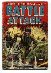 Battle Attack #2 1954- Bunker Hill-Dice Game story-Dead soldier cvr