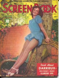 Screen Book 3/1938-Fawcett-Danielle Darrieux-Tyrone Power-Ilona Massey-FN