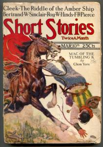 Short Stories Pulp March 10 1924- Riddle of the Amber Ship VG-