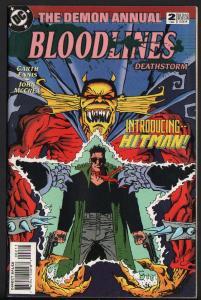 DEMON ANNUAL #2-FIRST HITMAN-1993-KEY ISSUE