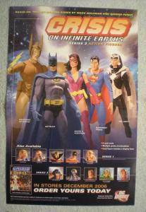 CRISIS ON INFINITE EARTH Promo Poster, 2006, Unused, more in our store, Batman
