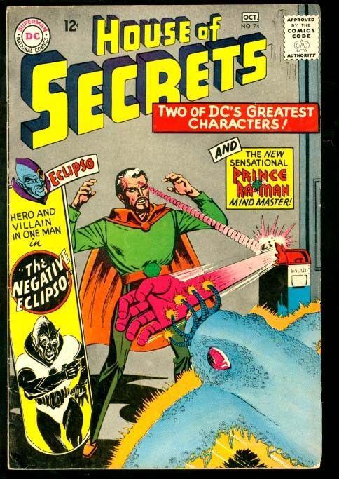 HOUSE OF SECRETS #74-ECLIPSO/PRINCE RA-MAN-DC VG