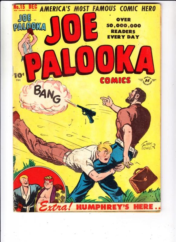 Joe Palooka Comics #15 (Dec-47) FN/VF Mid-High-Grade Palooka Joe