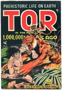 Tor #5 1954-Sabretooth tiger cover- Joe Kubert- Norman Maurer- Golden Age VG+