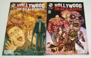 Hollywood Zombie Apocalypse #1-2 VF/NM complete series - all A variants set lot
