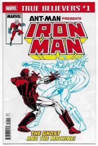 True Believers Ant-Man Presents Iron Man Ghost Machine #1 (Marvel, 2018) NM