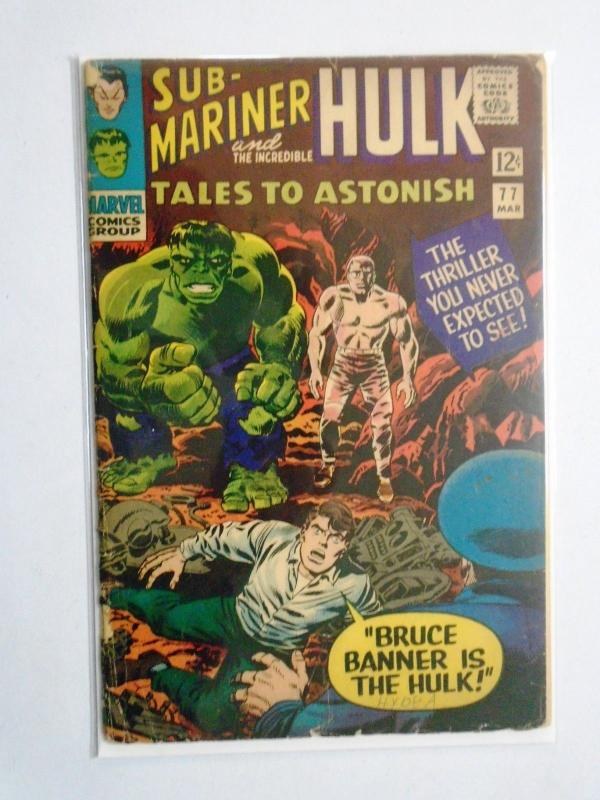 Tales to Astonish (1st Series) #77, Cover Split One Detached Staple 2.5 (1966)