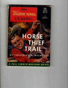 3 Books Horse Thief Trail Trouble at Moon Pass Cassidy Serves a Writ JK12