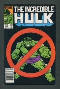 Incredible Hulk #317 /  7.5 VFN-  Newsstand March 1986
