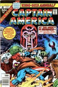 Marvel Comics Captain America Annual #4 Kirby Art Magneto  VF+