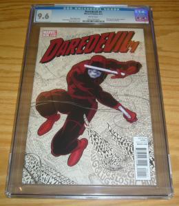 Daredevil #1 CGC 9.6 mark waid - paolo rivera - marvel comics - 2011 great cover