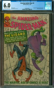 Amazing Spider-Man #6 CGC Graded 6.0 Origin and 1st apperance of the Lizard