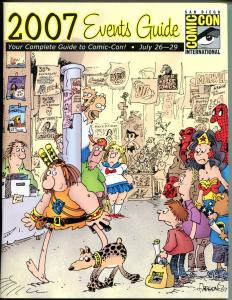 SDCC EVENT GUIDE for 2007, NM, Sergio Aragones, San Diego Comic Convention